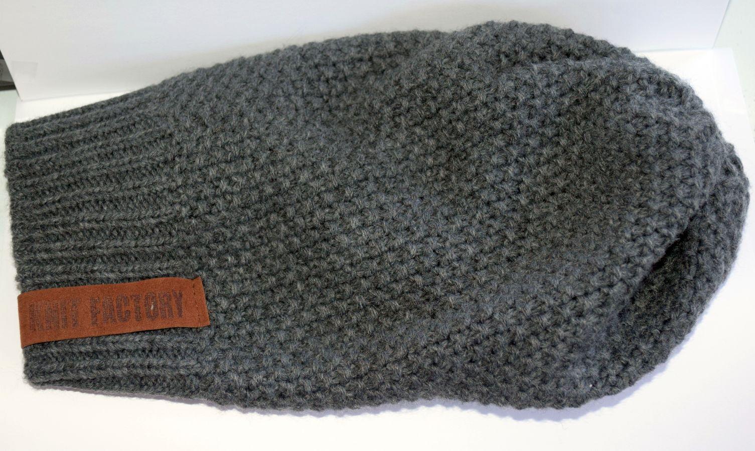 Knit Factory – Mütze Anthrazit