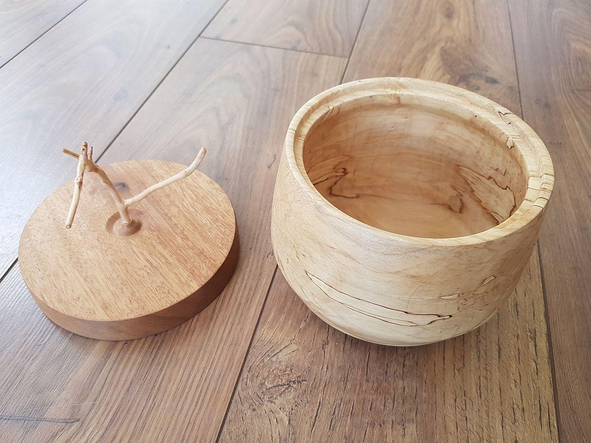 Holzdose Mit Deckel - Buche
