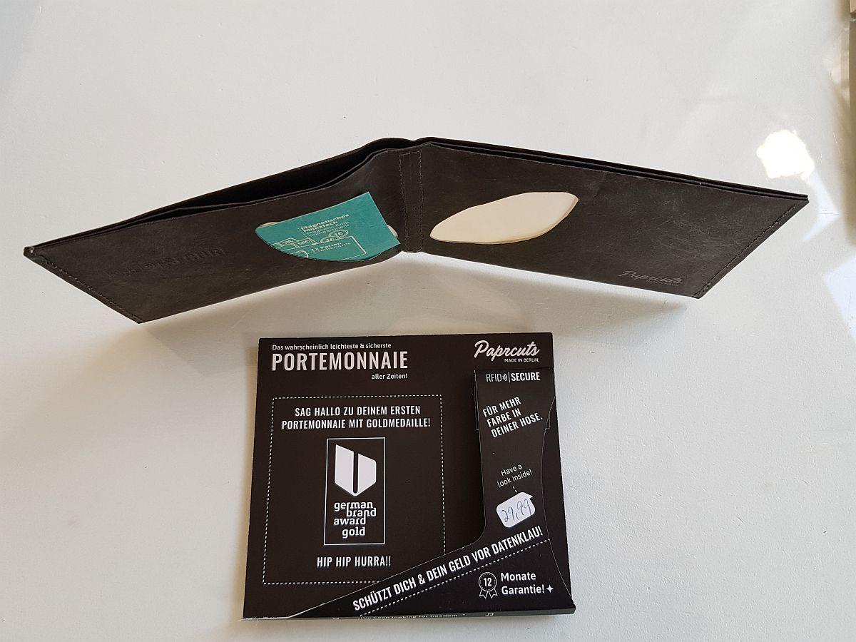 Paprcuts – RFID Portemonnaie Im Papierlook