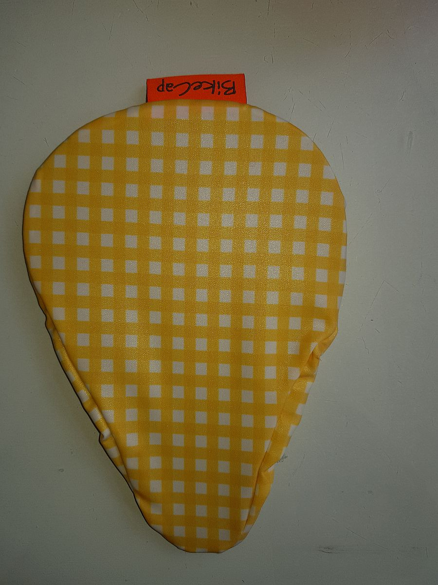Sattelbezug Für Kinder – Yellow Checkmate