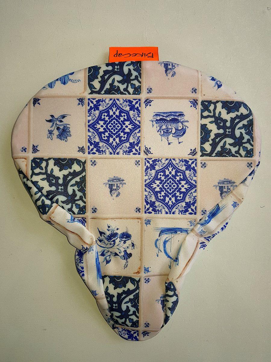 Sattelbezug Für Erwachsene – Delft Blue Tiles