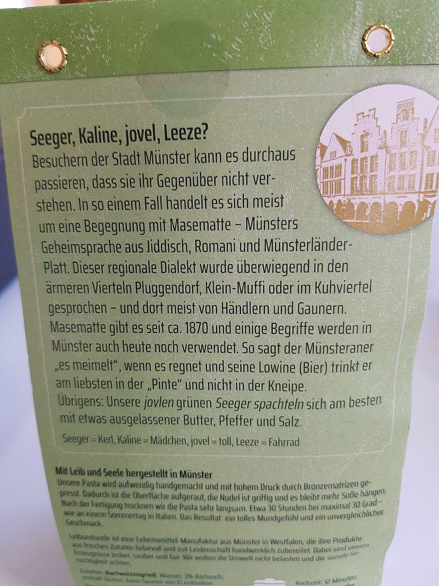 Pasta Grüner Seeger